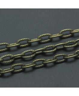 Cadena metal de eslabón ovalado
