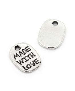 "Etiqueta Metal ""MADE WITH LOVE"""