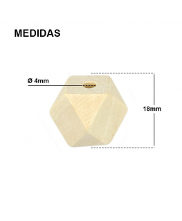 Tetradecágono de Madera 18mm