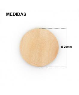Medalla Madera Ø 20mm.
