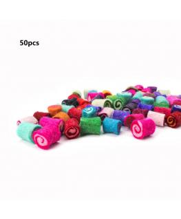 50pcs Tubo de fieltro 20mm 100% lana Colores Variados fieltro para manualidades