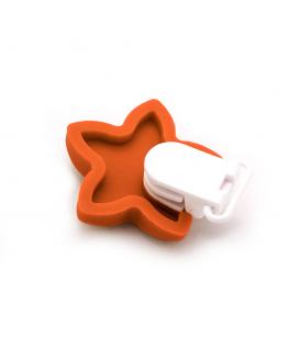Pinza de chupete de silicona Estrella