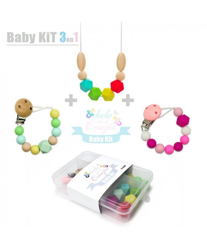 DIY Kit Cuentas de Silicona para hacer Chupetero Mordedores y Collar lactancia Regalos para bebes personalizados