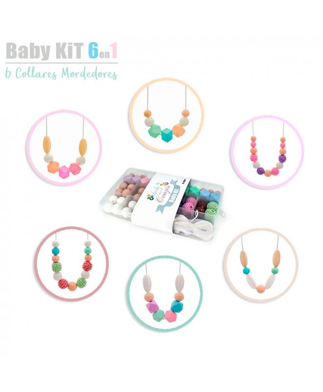 RUBY- Cuentas De Silicona kit Para 6 Collar Lactancia Mordedor Bebé