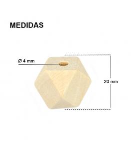 Tetradecágono de Madera 20mm