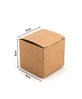 50 Caja kraft de  regalo