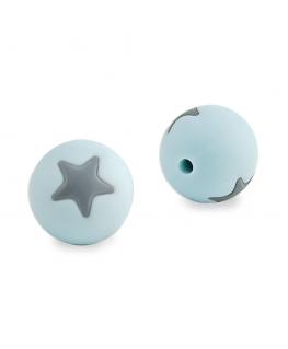 Bolas de Silicona Estrella Ø 15mm para Mordedores.