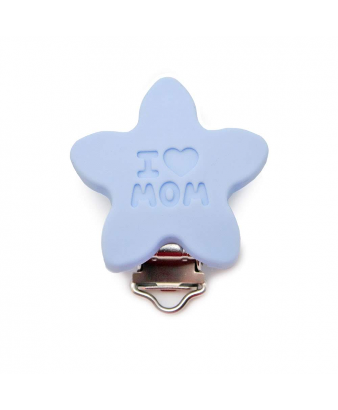 "Pinza Silicona "" I LOVE MOM """