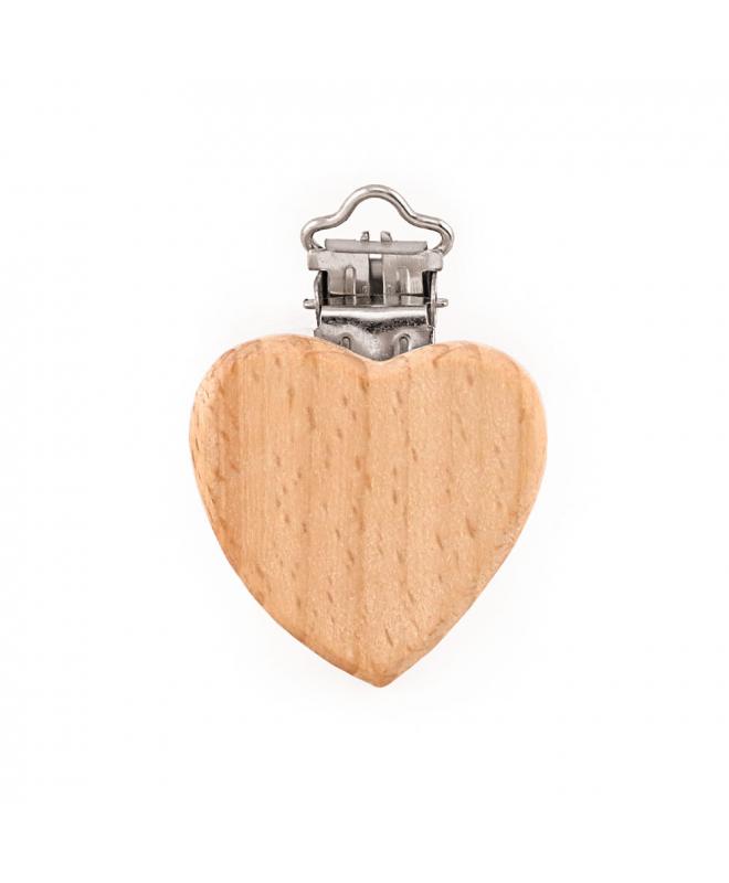 Pinza Corazón de Madera