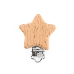 Pinza Estrella de Madera