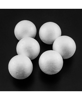 Pack 6 Polystyrene Craft Balls 40mm
