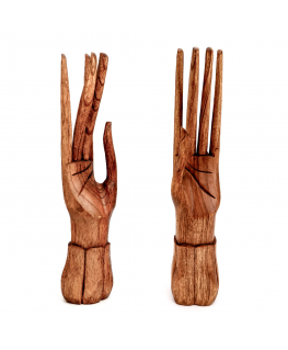 Display 2 Wooden Hands