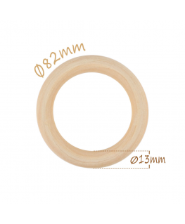 10 Hoops Ø82mm Natural Wood