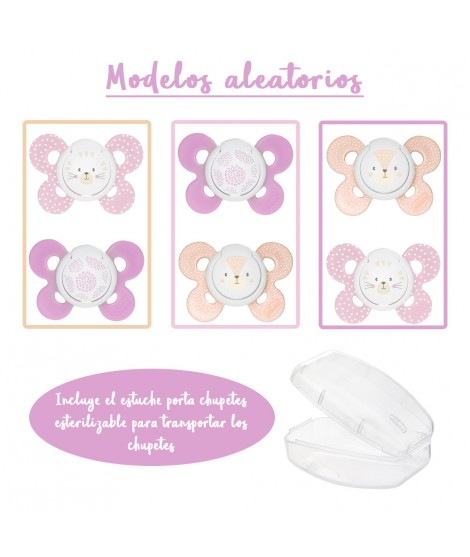 2 Pacifiers physio comfort silicone 6-16months