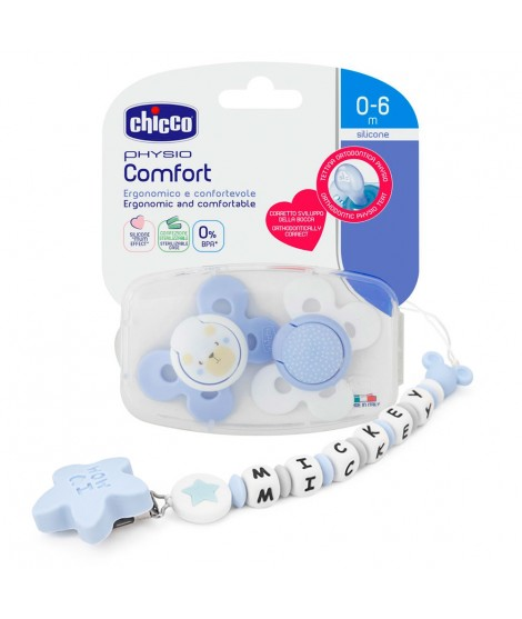 Stainless Steel Pacifier Pack + 2 pacifiers CHICCO 0-6months