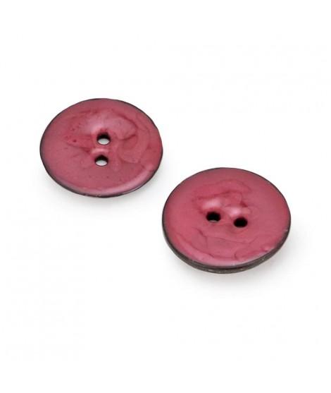 Botones Circulares de Coco de Colores Nacarados
