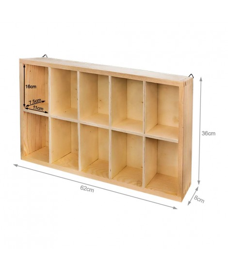 Display 10 Wooden Cells