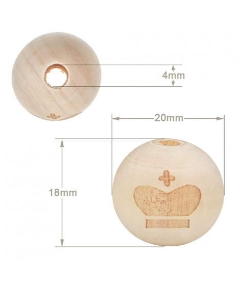 Wood Ball Crown