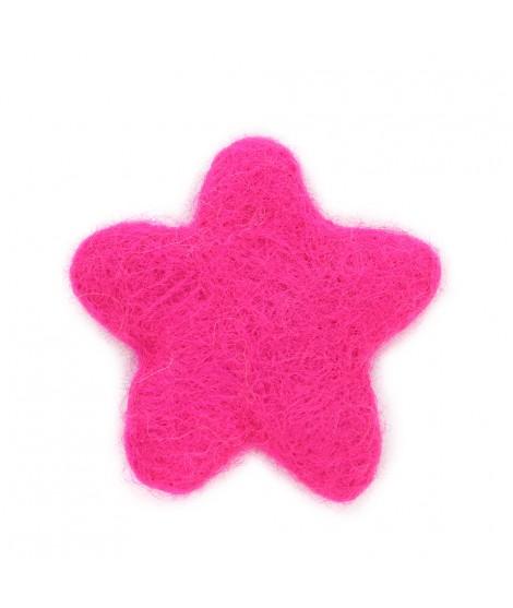 Estrella de Fieltro de colores 100% Lana