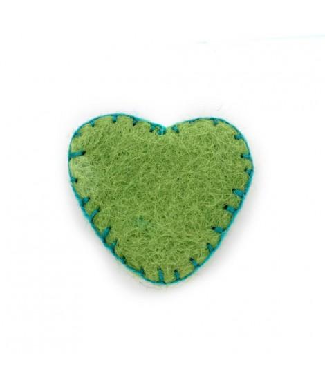 Corazón de Fieltro de colores 100% Lana