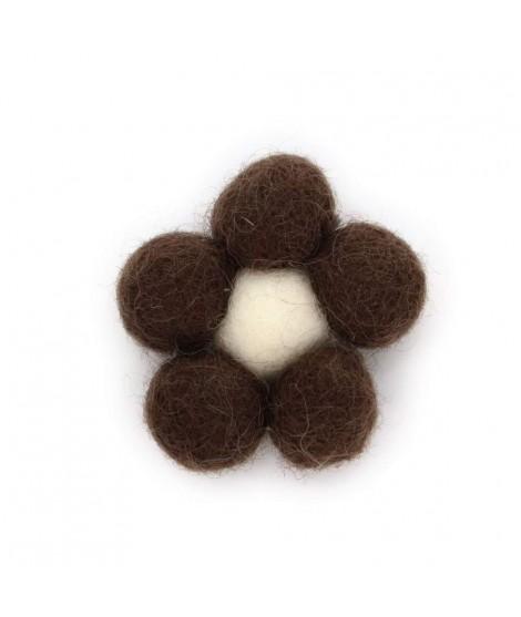 Figura de flor de feltro de lã 100%