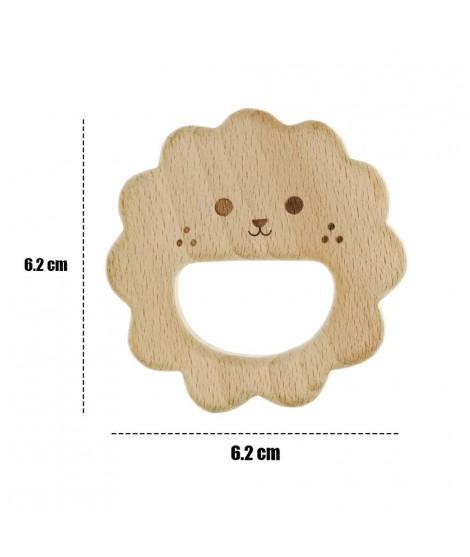 Wooden Lion Figure