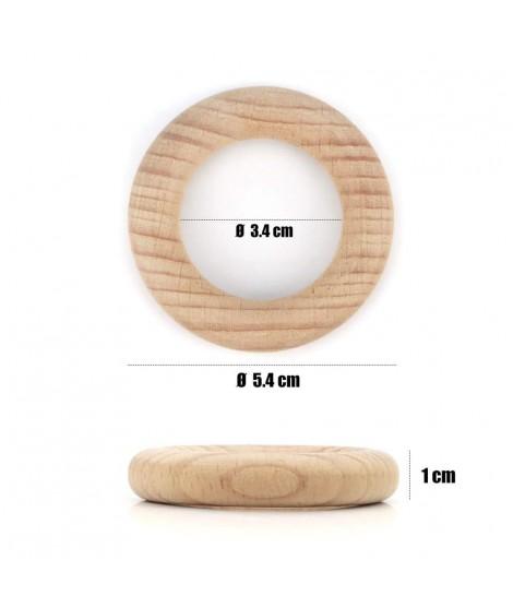 10 Hoops Ø54mm Natural Wood