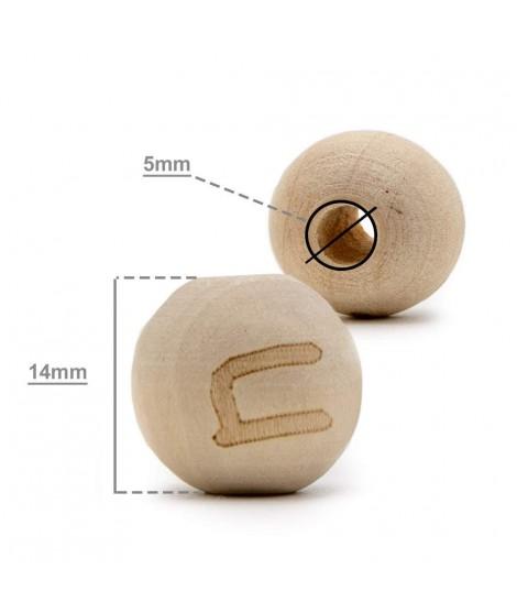 Wood Letter Balls