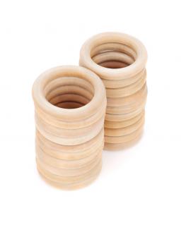 20 Hoops Ø65mm Natural Wood