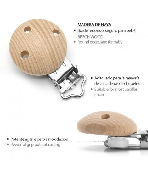 10 pinzas para chupete de beb/é con orificios antiasfixia Gobesty Pinza para chupete de madera pinza para chupete de madera libre de contaminantes para ni/ñas y ni/ños
