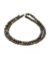 Smooth Obsidian Beads