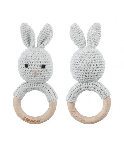 Sonajero Conejito de Crochet