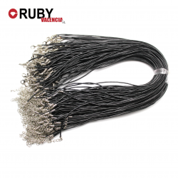 Cordón Cuero para Colgante Negro Marrón 100 unidades